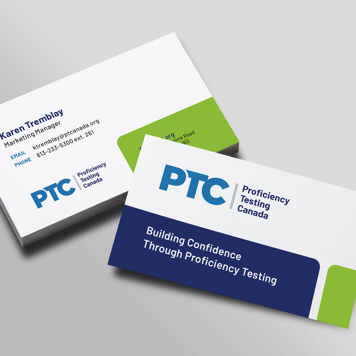 PT Canada business cards
